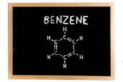 Chemical formula of benzene Stock Image