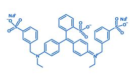 Brilliant Blue formula - E133 stock images