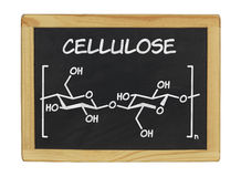 Chemical formula of cellulose. On a blackboard Royalty Free Stock Image
