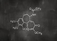 Chemical formula on chalkboard Stock Image