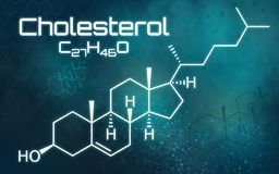 Chemical formula of Cholesterol. The chemical formula of Cholesterol royalty free illustration