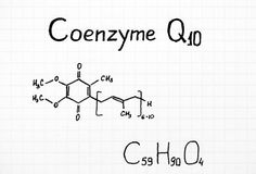 Chemical formula of Coenzyme Q10. Royalty Free Stock Image