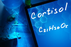Chemical formula of cortisol Royalty Free Stock Photo