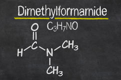 Chemical formula of Dimethylformamide Royalty Free Stock Photo