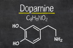 Chemical formula of dopamine Royalty Free Stock Photography