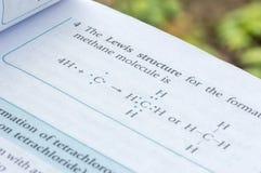 Chemical formula Stock Photo