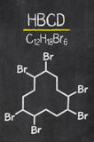 Chemical formula of HBCD Royalty Free Stock Image