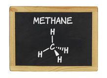 Chemical formula of methane Royalty Free Stock Image