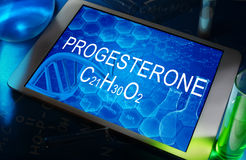 The chemical formula of progesterone Royalty Free Stock Image