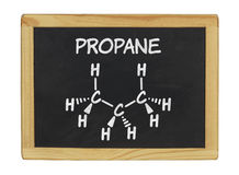 Chemical formula of propane Stock Image
