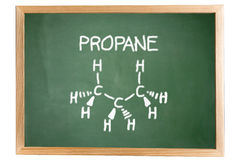 Chemical formula of propane Royalty Free Stock Images