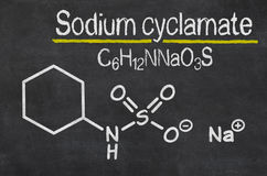 Chemical formula of Sodium cyclamate Stock Images