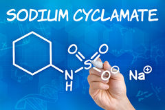 Chemical formula of Sodium cyclamate Stock Photography