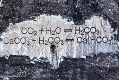 Chemical formula. On stone Royalty Free Stock Photo