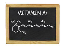 Chemical formula of vitamin a Royalty Free Stock Photo