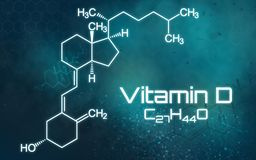Chemical formula of Vitamin D. The chemical formula of Vitamin D royalty free illustration