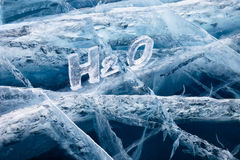 Chemical formula of water H2O Stock Image