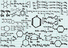Chemical formulas Royalty Free Stock Images