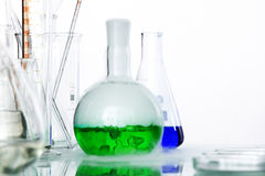 Chemical glass Stock Image