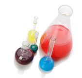 Chemical glass equipment Stock Photography