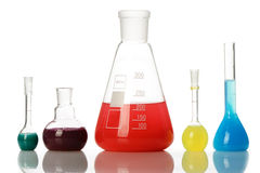Chemical glass equipment Royalty Free Stock Photography