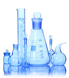 Chemical glass equipment Stock Photo