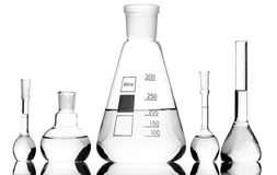 Chemical glass equipment Stock Images