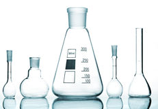 Chemical glass equipment Stock Image