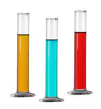 Chemical glass equipment. Test-tubes Stock Photo