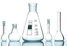 Chemical glass utrustning fotografering för bildbyråer