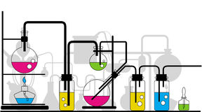 Chemical glassware vector illustration
