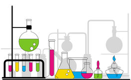 Chemical glassware royalty free illustration