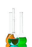 Chemical glassware Stock Images