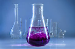 Chemical glassware. Stock Photo