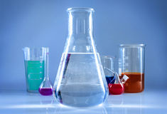 Chemical glassware. Royalty Free Stock Photography