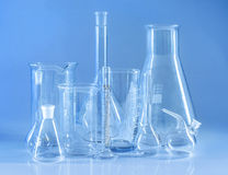 Chemical glassware. Royalty Free Stock Images