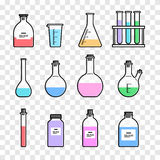 Chemical glassware icon Stock Images