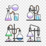 Chemical glassware icon Stock Image