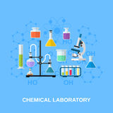 Chemical glassware, laboratory. Royalty Free Stock Photography