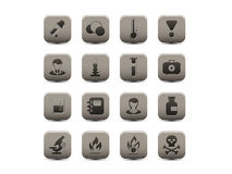 Chemical gray icons Stock Images