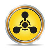 Chemical hazard icon Royalty Free Stock Photo