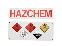 Chemical hazard Sign Stock Image