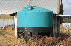 Chemical Holding Tank on Farm Royalty Free Stock Image