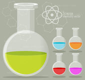 Chemical Icon with background Stock Images