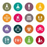 Chemical icon set Royalty Free Stock Photo