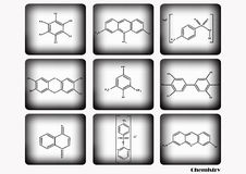Chemical icon set,vector illustration,chemical icon set on white and black background. Stock Photography