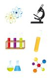 Chemical icons Royalty Free Stock Image