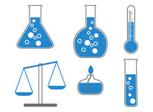 Chemical icons, illustration. Stock Images