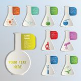 Chemical icons Stock Images