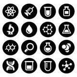 Chemical icons set Stock Photos
